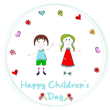 Diseño de fondo de vector de feliz día de los niños