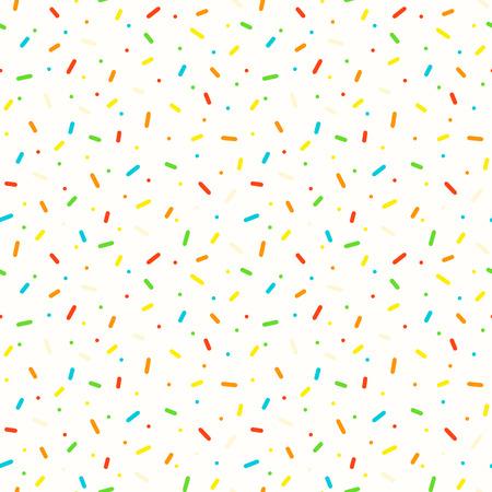 Seamless pattern with colorful sprinkles. Donut glaze background.