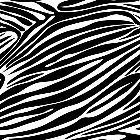 Seamless zebra stripe pattern. Vector animal skin background print