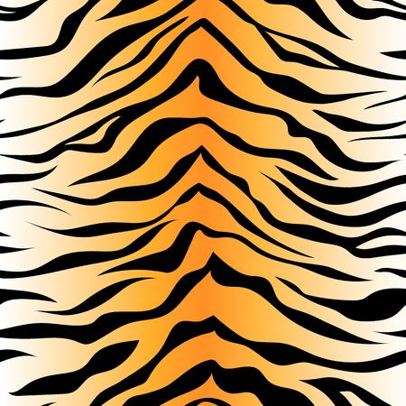 Seamless tiger stripe pattern Archivio Fotografico - 111445372