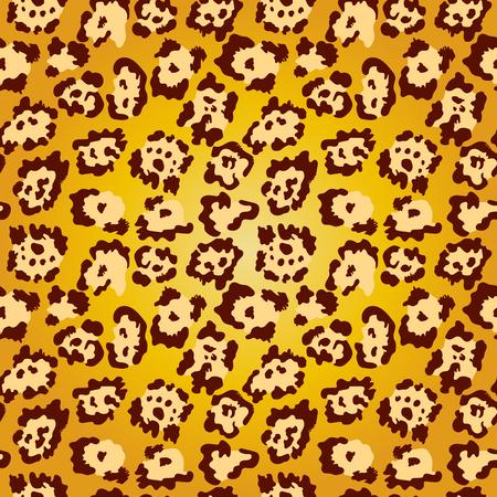 Seamless pattern golden leopard texture background. Fashion trendy animal skin pattern.