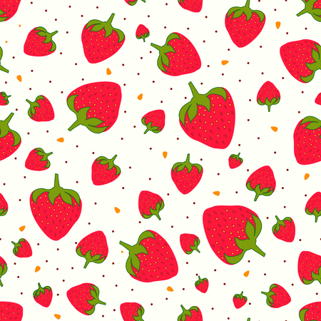 Seamless pattern with sweet strawberries and chocolate sprinkles. Fruit background. Pattern in swatch 写真素材 - 121611099