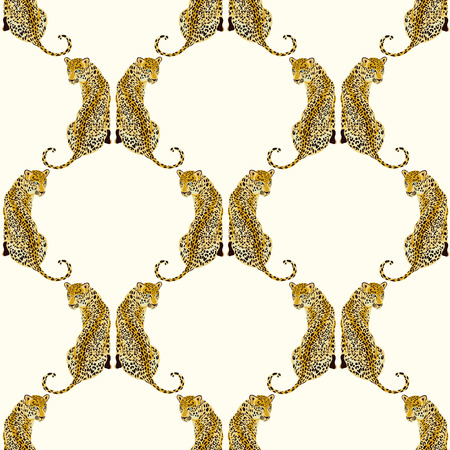 Wild animal pattern, print design. leopard, jaguar, tiger, panther, cheetah