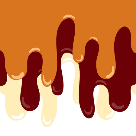 ice cream melted background  with caramel, chocolate, milk