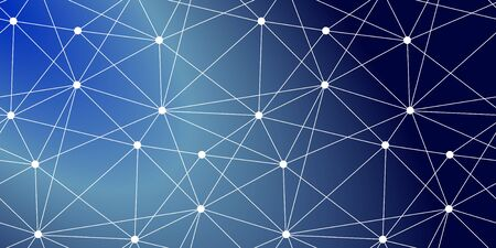 Global connected lines and dots seamless background. Molecular structure. Science, technology, dna, internet connection, global communication, triangle, poly, space,  crypto currency, block chain, background design. 写真素材 - 126862288