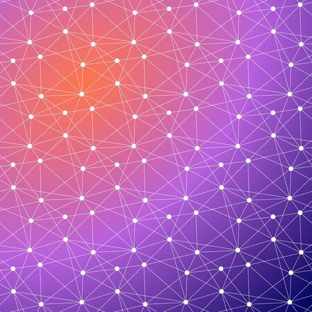Global connected lines and dots seamless background. Molecular structure. Science, technology, dna, internet connection, global communication, triangle, poly,  crypto currency, block chain, background design. Ilustração