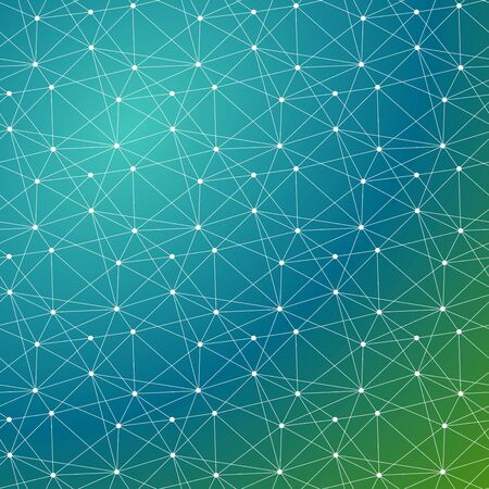 Global connected lines and dots seamless background. Molecular structure. Science, technology, dna, internet connection, global communication, triangle, poly,  crypto currency, block chain, background design. 写真素材 - 126862289