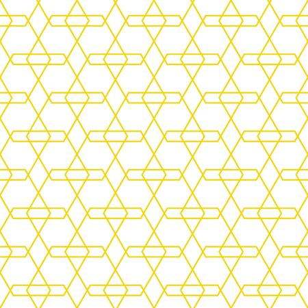 Seamless geometric gold color pattern.  Abstract texture background