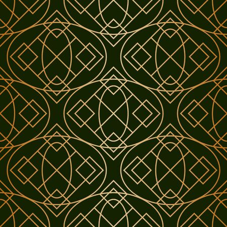 Geometric abstract gold texture pattern. Vector classic ornament background
