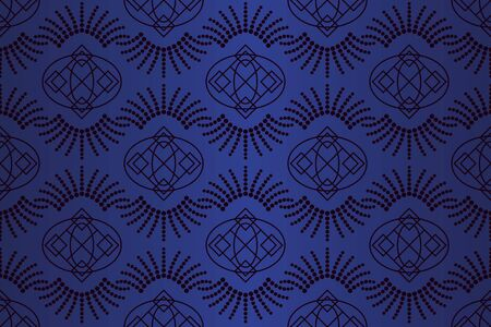 Art deco seamless vector pattern.Vintage geometric gatsby texture background, 20s and 30s trendy pattern