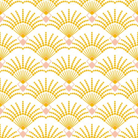 Art deco seamless vector pattern. Vintage geometric gold gatsby  texture background, 20s and 30s trendy pattern