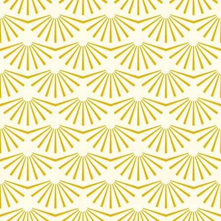 Vintage geometric gold simple gatsby  texture background, 20s and 30s trendy pattern. Art deco seamless vector pattern