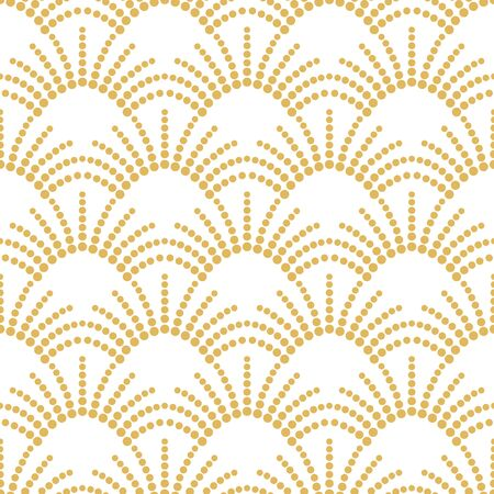 Art deco gold seamless vector pattern. Vintage geometric gold yellow gatsby  texture background, 20s and 30s trendy pattern