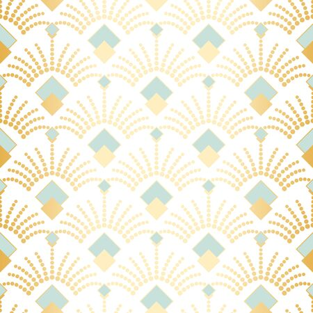 Art deco seamless vector pattern.Vintage geometric gold gatsby  texture background, 20s and 30s trendy pattern