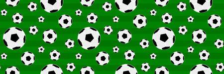 Soccer, football ball with stadium vector banner, background design Illusztráció