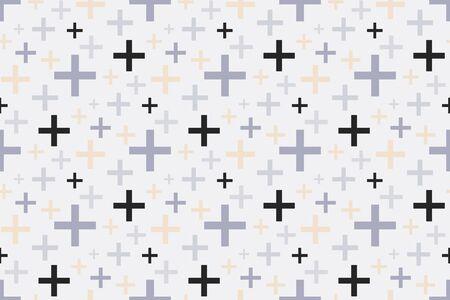 Pattern geometric plus texture seamless background
