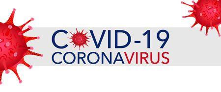 Covid 19, pandemic coronavirus, virus symbol, global warning. Covid-19 vector illustration background