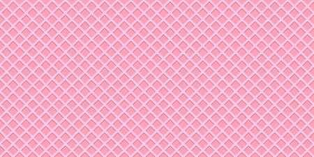 Crispy pink sweet waffler or cone texture, seamless pattern, banner background