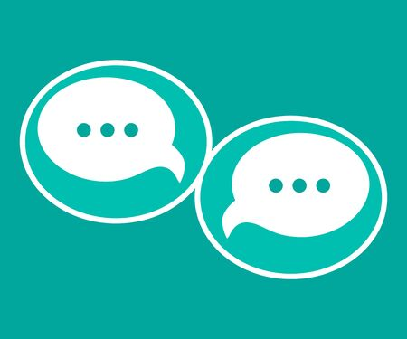 Modern chat speech bubble background, box, comment sign, icon, symbol, logo vector, flat style graphic design