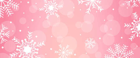 Pink Christmas snow winter season holiday background design