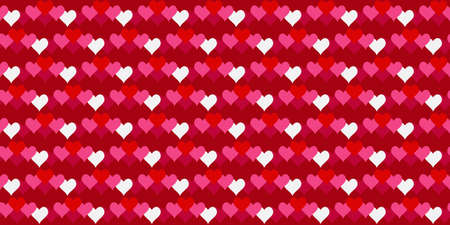 Red hearts texture, Valentine's day seamless pattern background