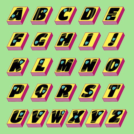 heats: Vector graphic in the form of the alphabet with heats on stands. eps10 Illustration