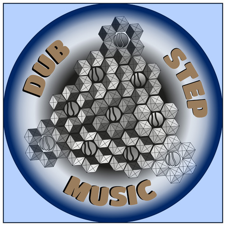 dubstep: Colorful logo. Dubstep music. Vector graphic eps10.