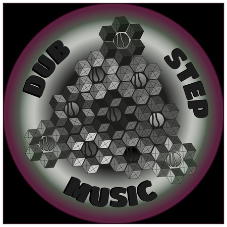 Colorful logo. Dubstep music. Vector graphic eps10.