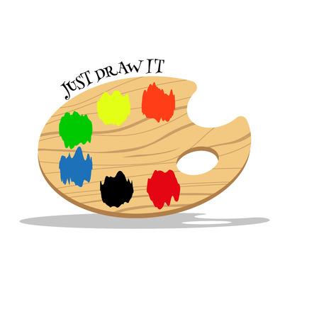 chromatic colour: Color palette. Just Draw it! Vector graphic eps10
