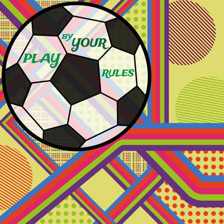 サッカー。あなたの規則によって遊ぶ。ベクトル グラフィック eps10 背景。
