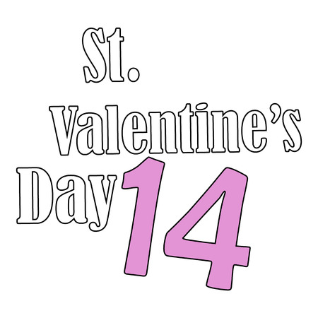 14: St.Valentines Day. 14 February. Vector Graphic Eps10 Illustration