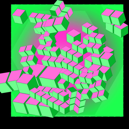 abstract cubes: Colorful abstract cubes. Vector Graphic. Eps10 Illustration