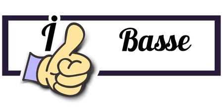 i like: Frame I Like Basse Thumb Up! Vector graphic logo eps10. Illustration
