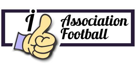 association: Frame I Like Association Football Thumb Up! Vector graphic logo eps10.