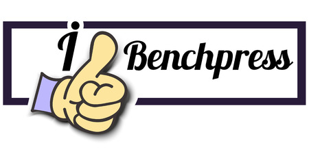 benchpress: Frame I Like Benchpress Thumb Up! Vector graphic logo eps10.