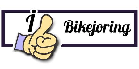 i like: Frame I Like Bikejoring Thumb Up! Vector graphic logo eps10.