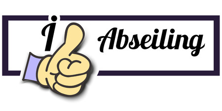 abseiling: Frame I Like Abseiling Thumb Up! Vector graphic logo eps10.