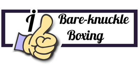 knuckle: Frame I Like Bare-knuckle Boxing Thumb Up! Vector graphic logo eps10.