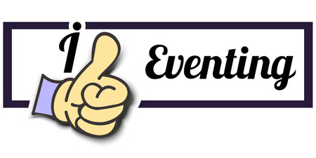 eventing: Frame I Like Eventing Thumb Up! Vector graphic logo eps10.