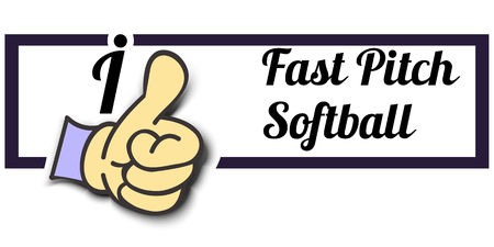 fast pitch: Frame I Like Fast Pitch Softball Thumb Up! Vector graphic logo eps10. Illustration