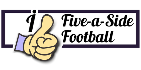 ail: Frame I Like Five-a-Side Football Thumb Up! Vector graphic logo eps10.