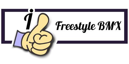 freestyle: Frame I Like Freestyle BMX Thumb Up! Vector graphic logo eps10. Illustration