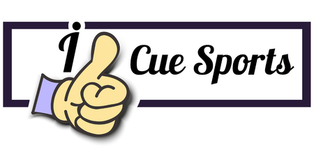 cue: Frame I Like Cue Sports Thumb Up! Vector graphic logo eps10.