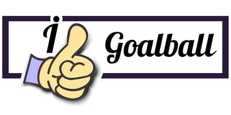 i like: Frame I Like Goalball Thumb Up! Vector graphic logo eps10.
