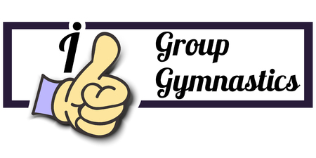 Frame I Like Group Gymnastics Thumb Up! Vector graphic logo eps10.