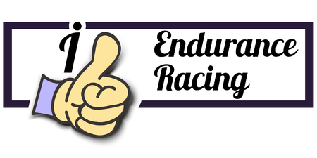 endurance: Frame I Like Endurance Racing Thumb Up! Vector graphic logo eps10.
