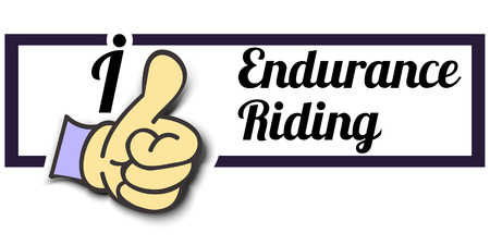 endurance: Frame I Like Endurance Riding Thumb Up! Vector graphic logo eps10.