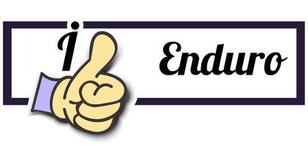 i like: Frame I Like Enduro Thumb Up! Vector graphic logo eps10. Illustration
