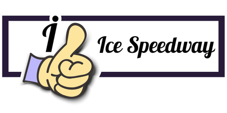 speedway: Frame I Like Ice Speedway Thumb Up! Vector graphic logo eps10.
