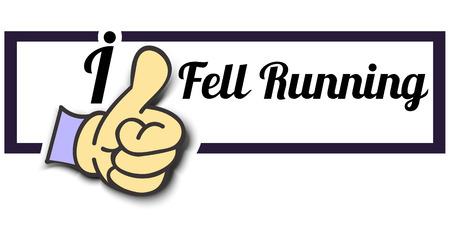fell: Frame I Like Fell Running Thumb Up! Vector graphic logo eps10. Illustration